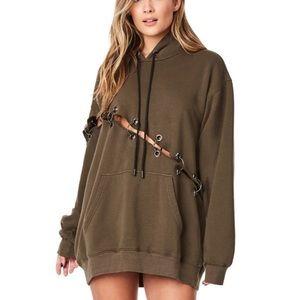 LF Sweaters - LF diagonal ring hoodie